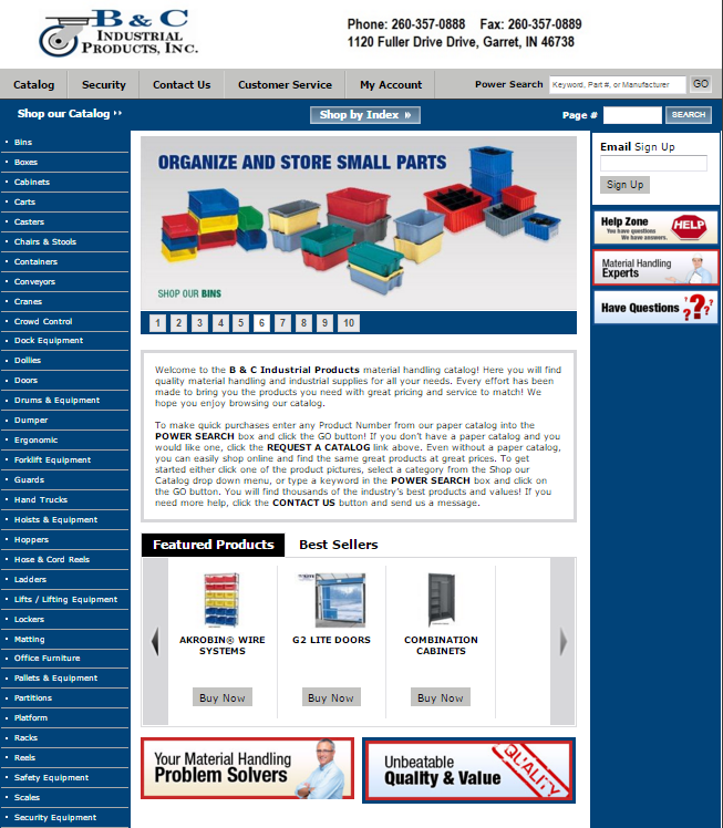 Material Handling Products Online | Shop B & C! | Huge Selection