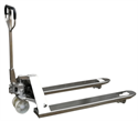 """Picture of A25S Stainless Steel Pallet Jack - 5500 lb Capacity - 27"""" x 48"""" Fork Size"""